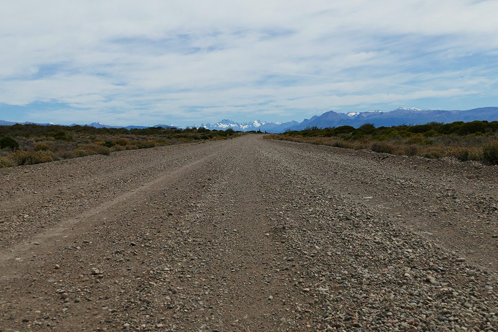 Gravel Road in Patagonia on the way to Los Antiguos