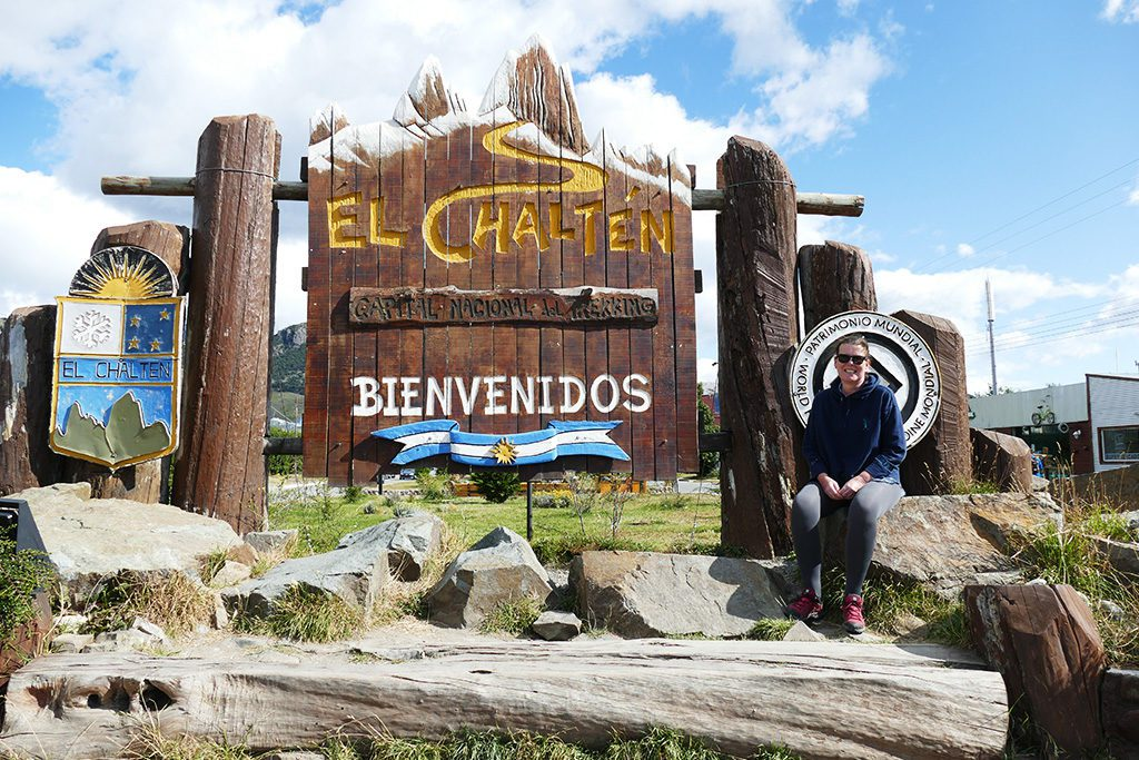Sign in the very center of the town of El Chalten