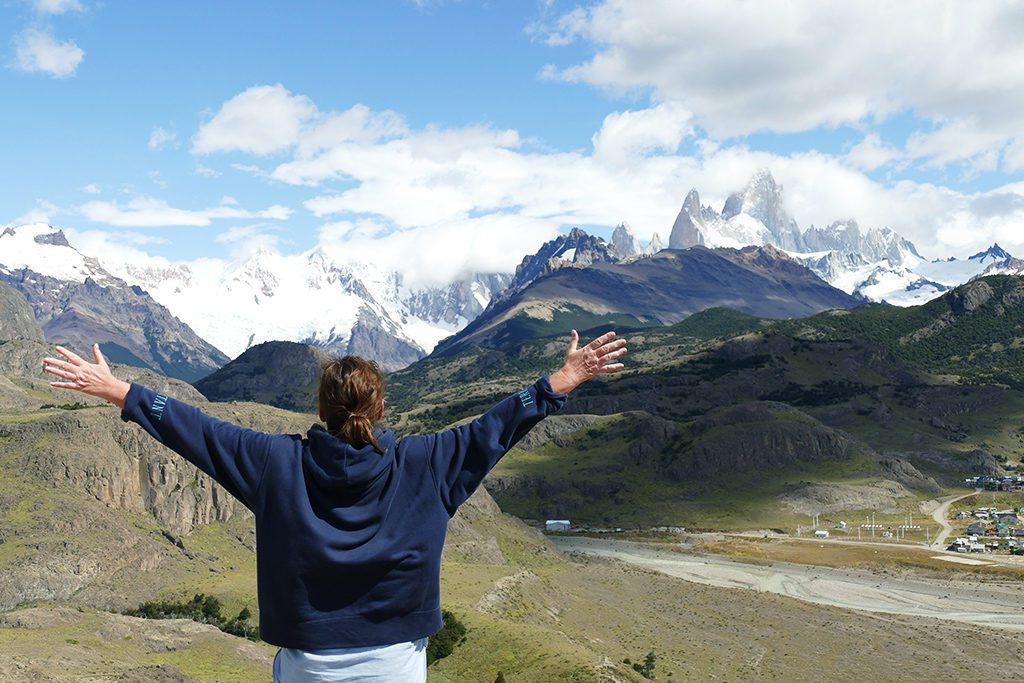 Looking at the Fitz Roy from El Mirador De Los Condores at El Chalten