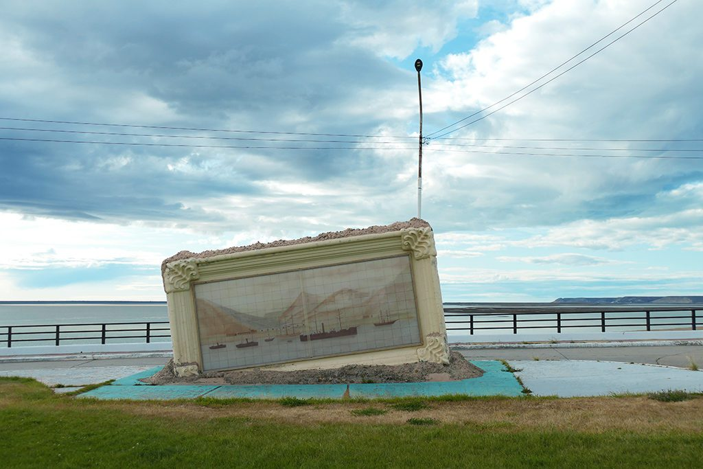 Monument at the easternmost Punta Reparo, remembers the landing of Commodore Luis Py's Naval Squadron in defense Argentina against Chile in 1878.