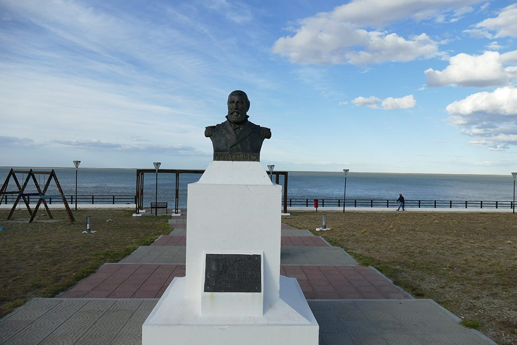 Memorial to Commander Luis Piedrabuena in Puerto Santa Cruz in Argentina