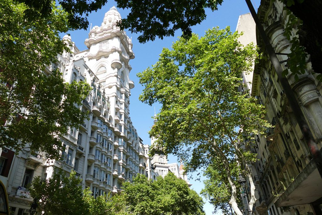 The Palacio Barolo in Buenos Aires was designed in a pretty eclectic style by Mario Palanti and built between 1919 and 1923.