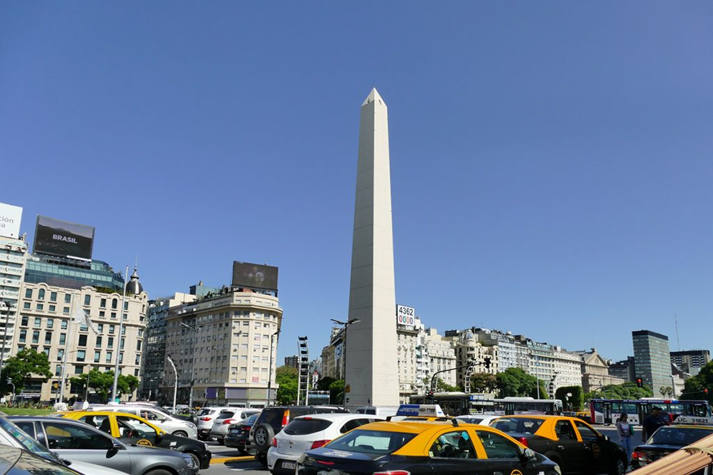 Obelisk at the center of Buenos Airs