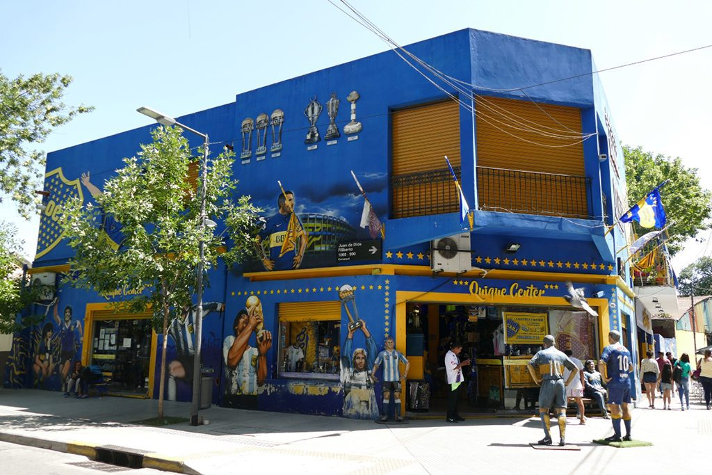 Soccer store at La Boca