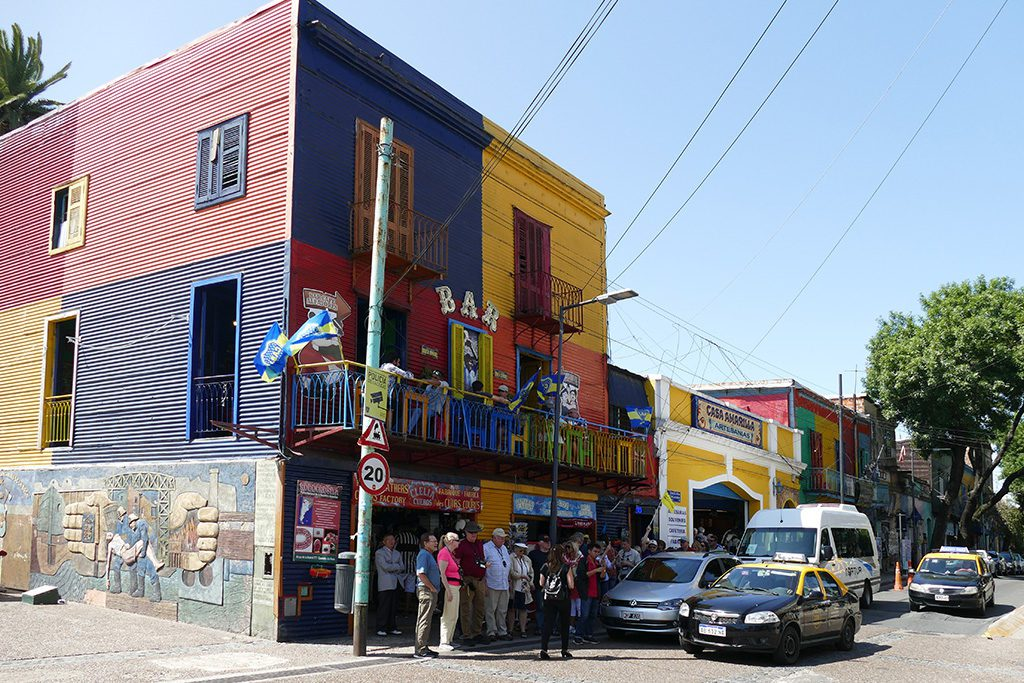 Tourist group at La Boca