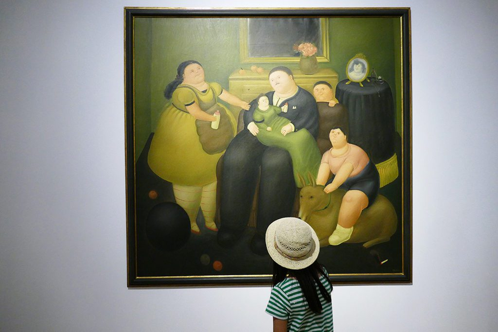....and, of course, there is also a painting of Colombian artist Fernando Botero: El Viudo - The Widower