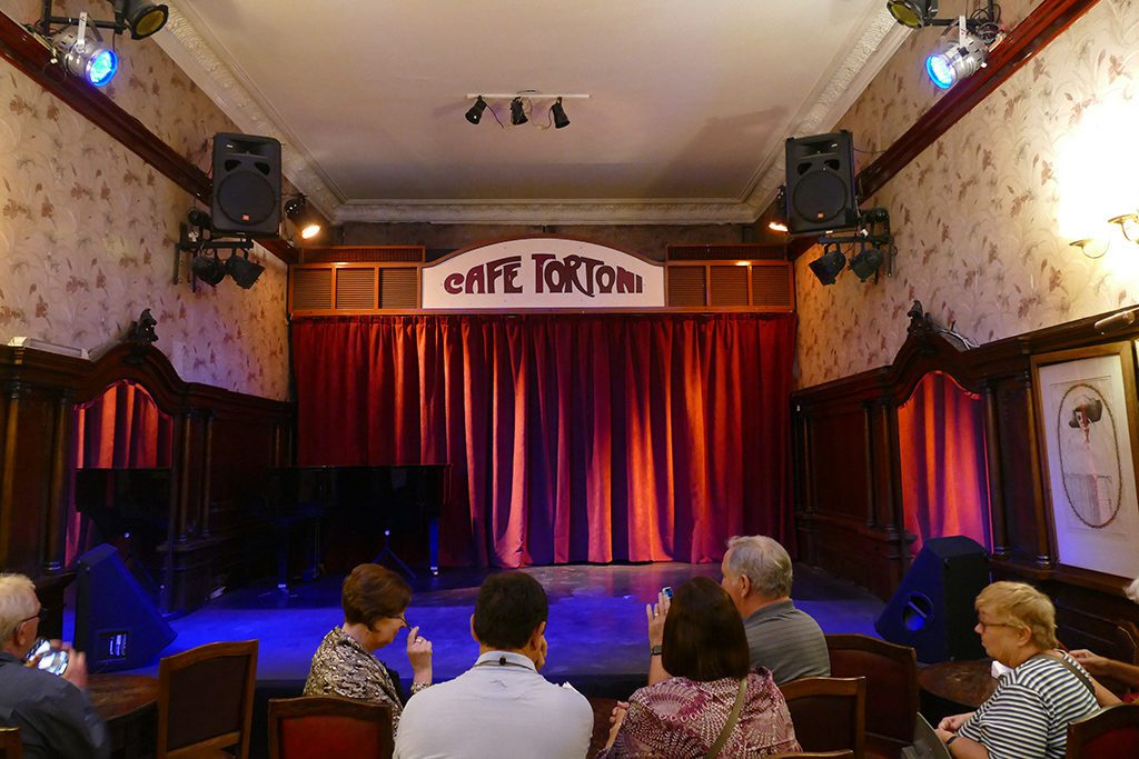 Stage at Cafe Tortoni