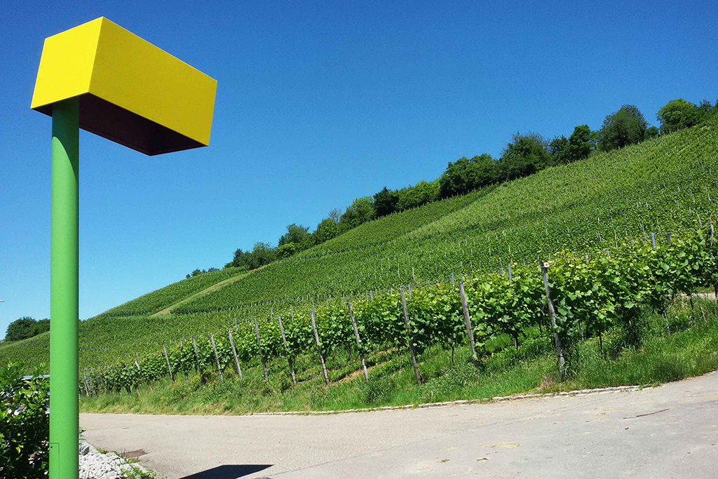 17. ...and another streetlamp. Have you noticed the lush vineyards?