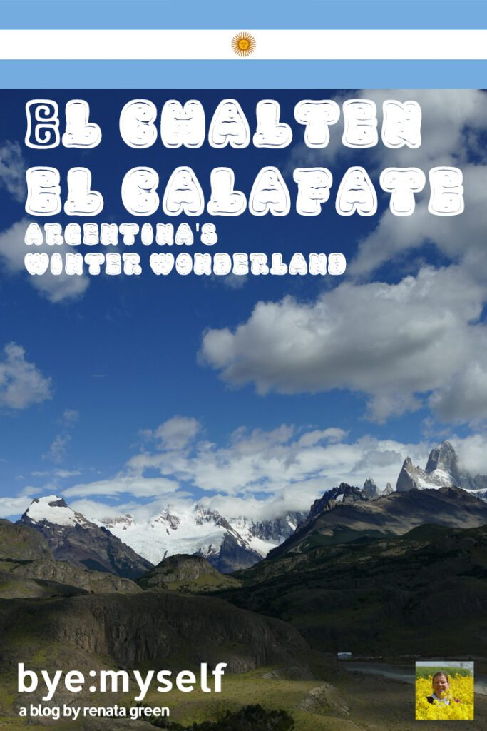 Pinnable Picture for the post on El Calafate and El Chalten