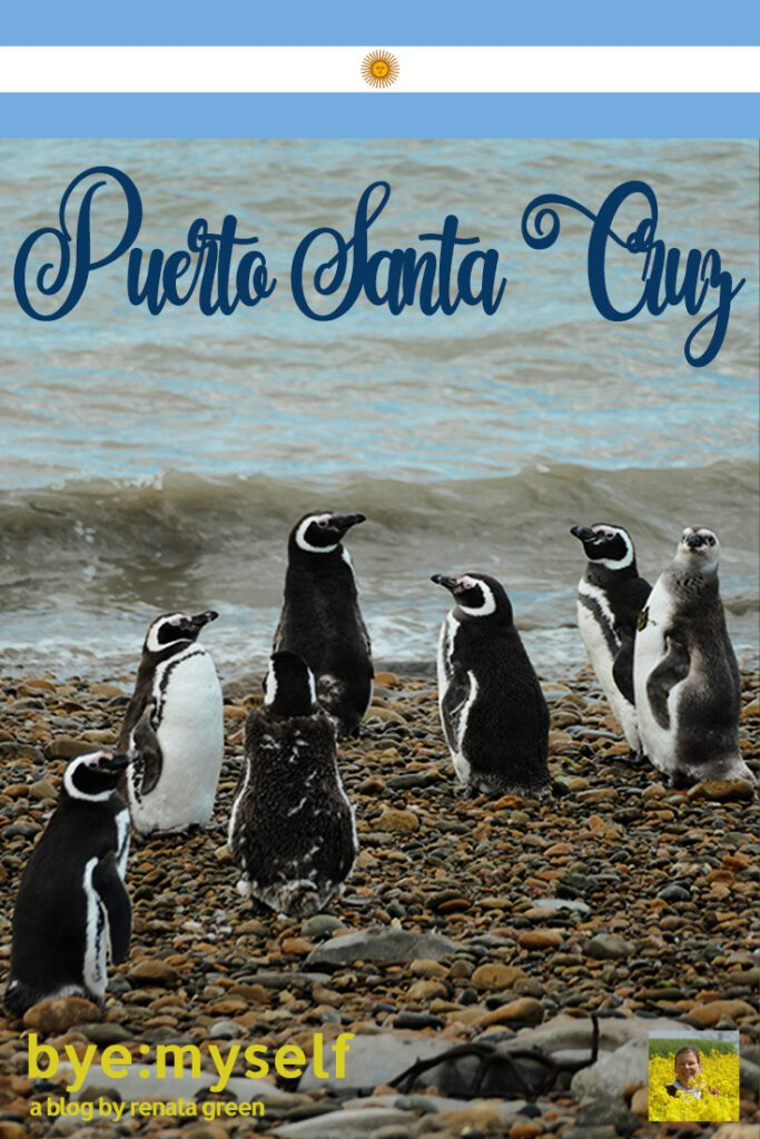 Pinnable Picture for the Post on Puerto Santa Cruz in Patagonia, Argentina