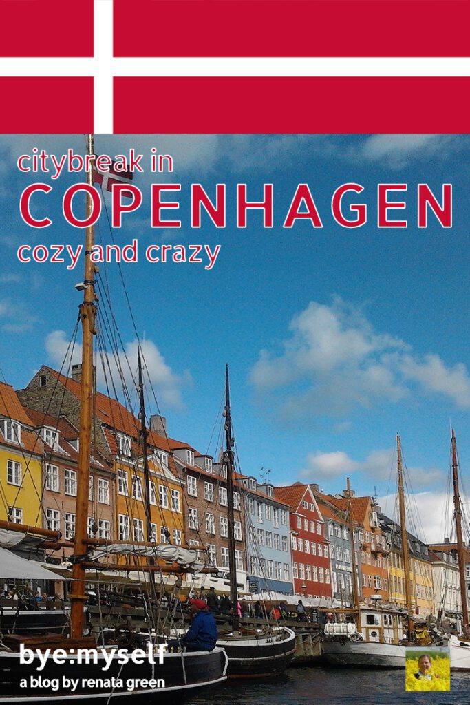 Pinnable Picture for the post on Copenhagen showing the port of Nyhavn