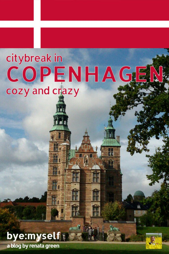 Pinnable Picture for the post on Copenhagen showing Rosenborg castle