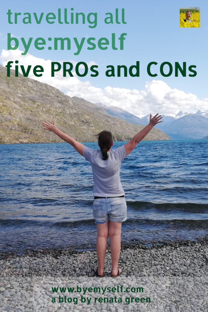Pinnable Picture for the Post travelling all by myself - five PROs and CONs