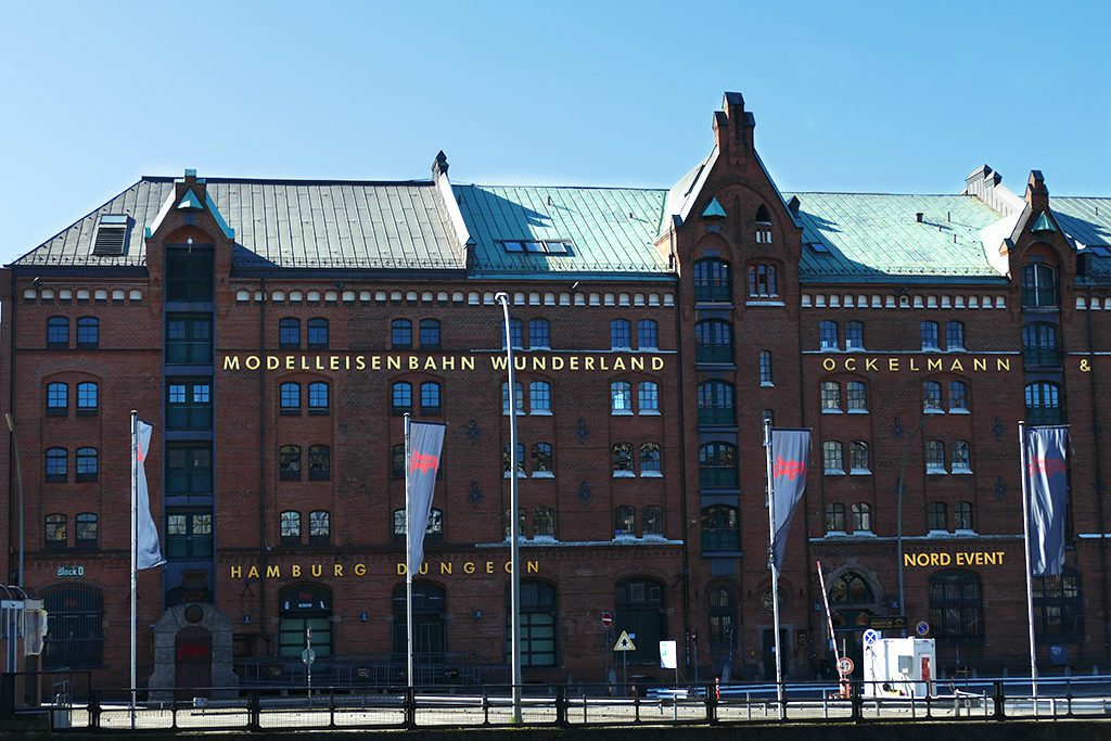 The Miniaturwunderland and the Dungeon are conveniently housed in the same building in the Speicherstadt in the Harbor of Hamburg