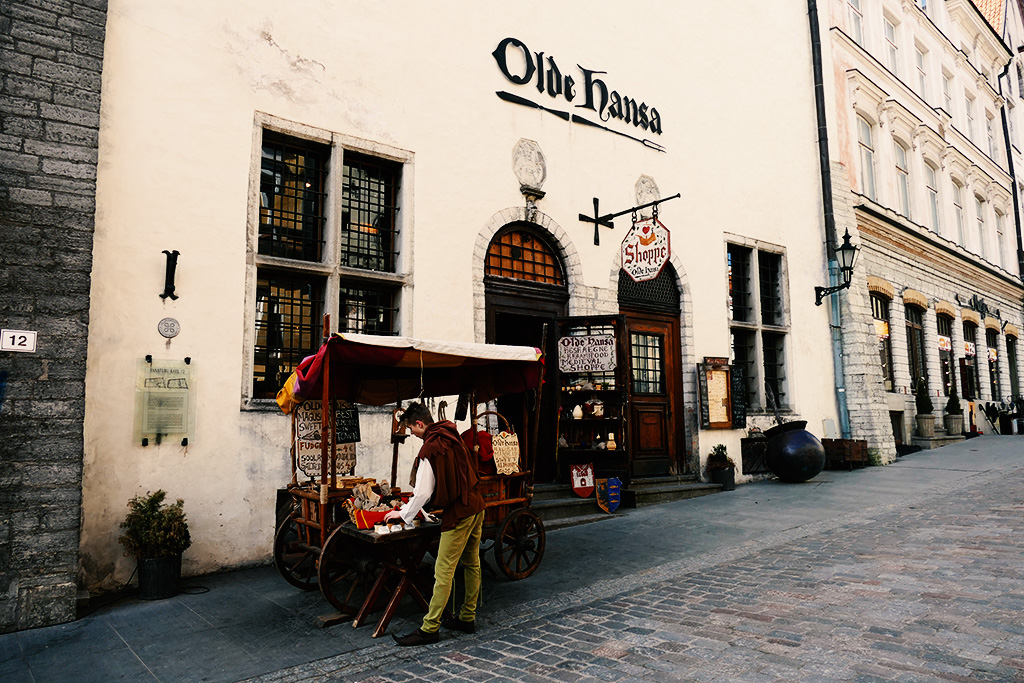 Medieval Shop Olde Hanse in Tallinn, the city between the poles of history and creativity