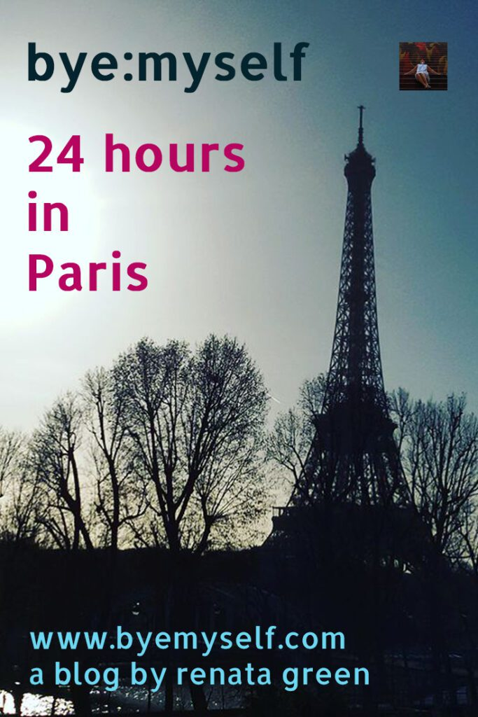 Pinnable Picture for the Post on 24 hours in Paris