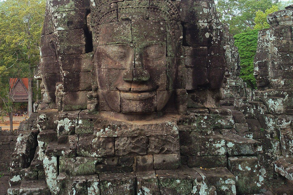 Carved Faces at Wat Bayon