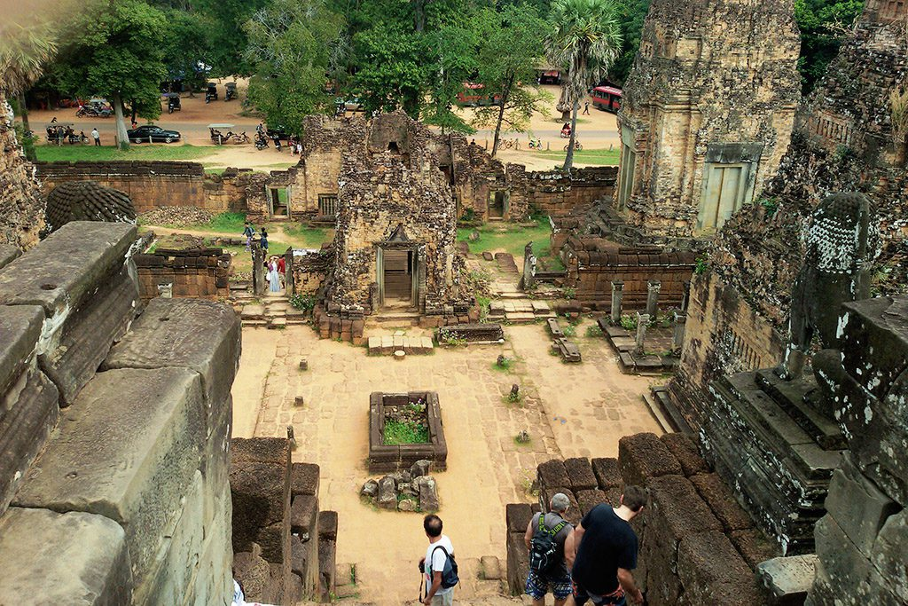 View from a temple ruin at Angkor Thom.