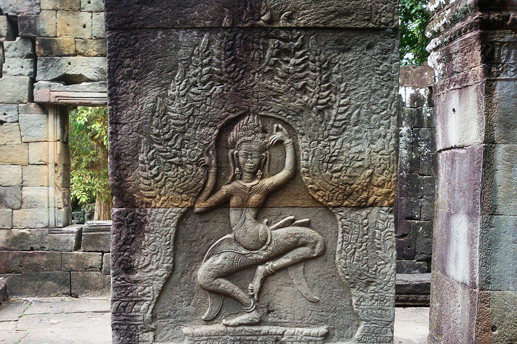 Carved Dancer at Banteay Kdei at Angkor Wat