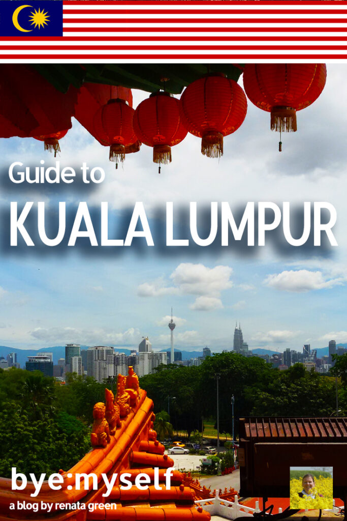 Pinnable Picture for the Post on a Guide to Kuala Lumpur