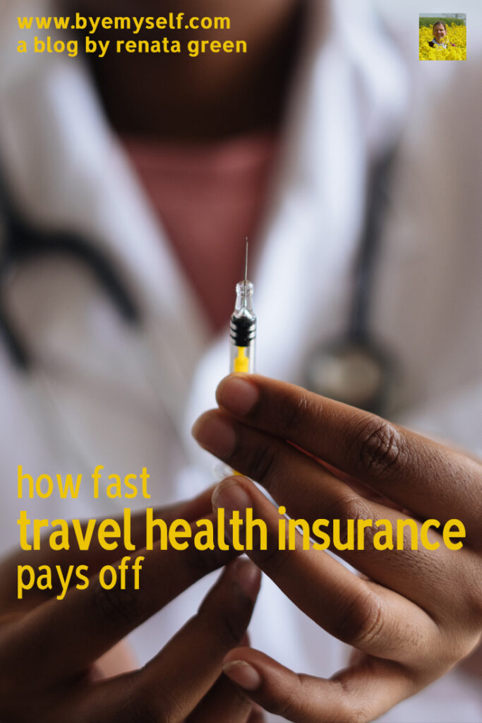 Pinnable Picture for the Post on How Fast Travel Health Insurance Pays Of