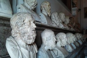Sculptured Heads at the Musei Capitolini in Rome