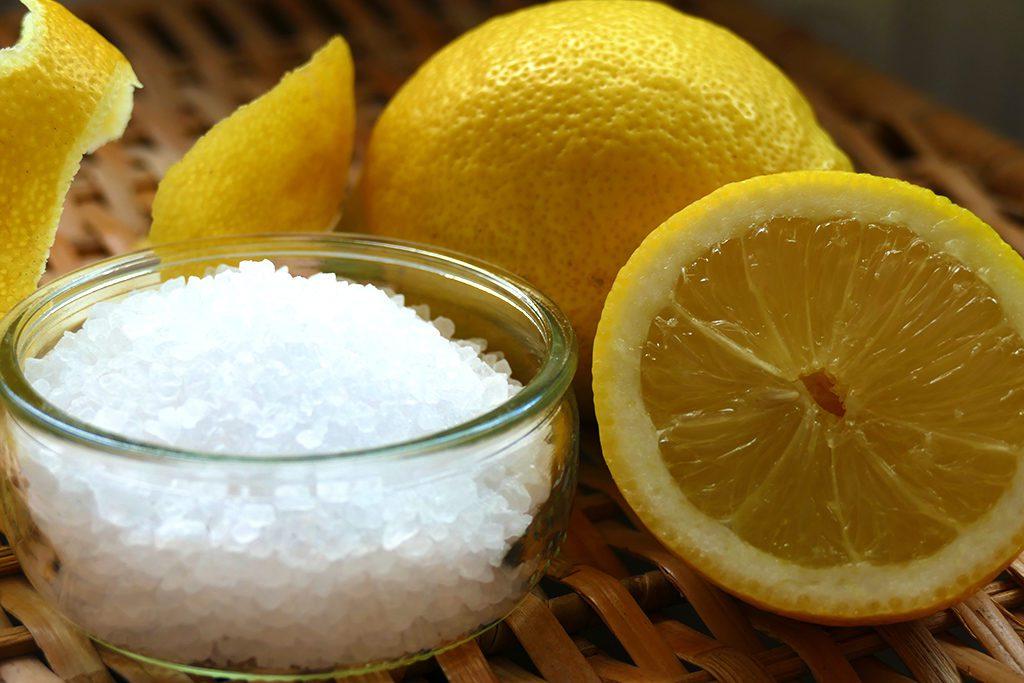 Lemons and Salt to make infused salt. An Easy Mediterranean Recipe for Pickled Delicacies.