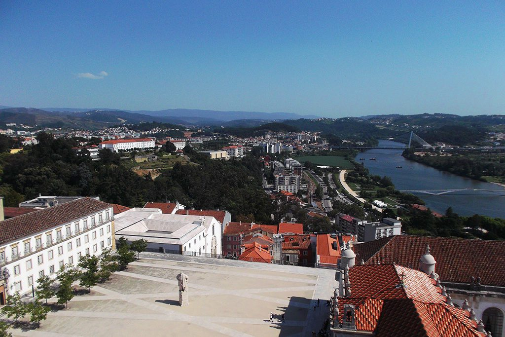 University of Coimbra with the river Mondego in the Backdrop