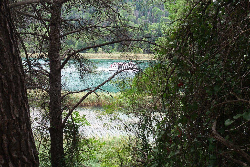 Boat from Krka National Park back to Skradin