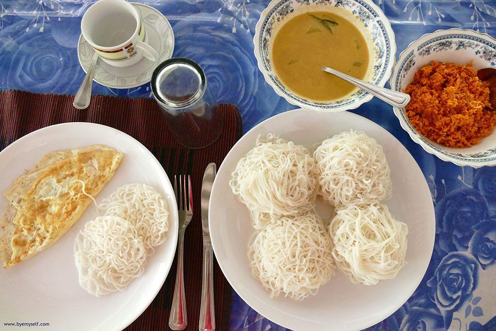Breakfast at the homestay in Sigiriya