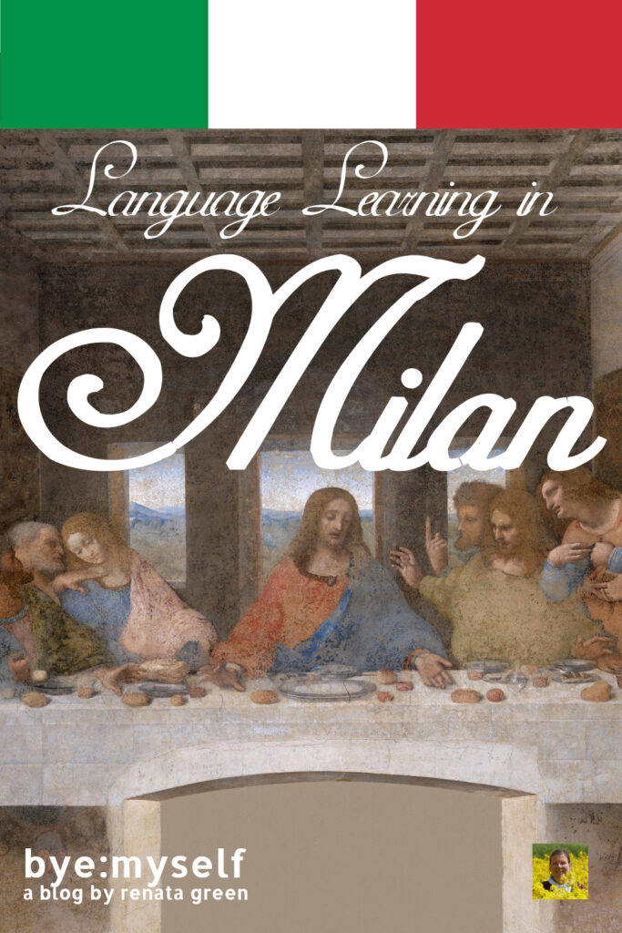Pinnable Picture for the Post on Language Learning in Milan