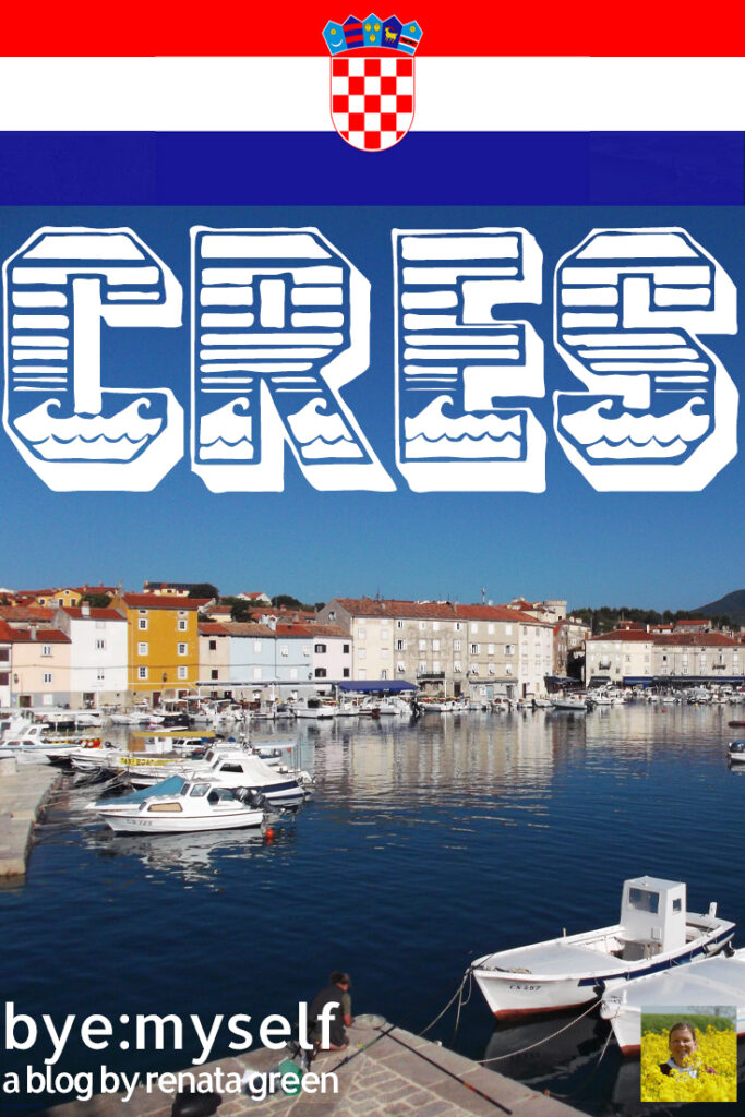 Pinnable Picture for the Post on the Guide to CRES, a Magic Island in the Adriatic Sea