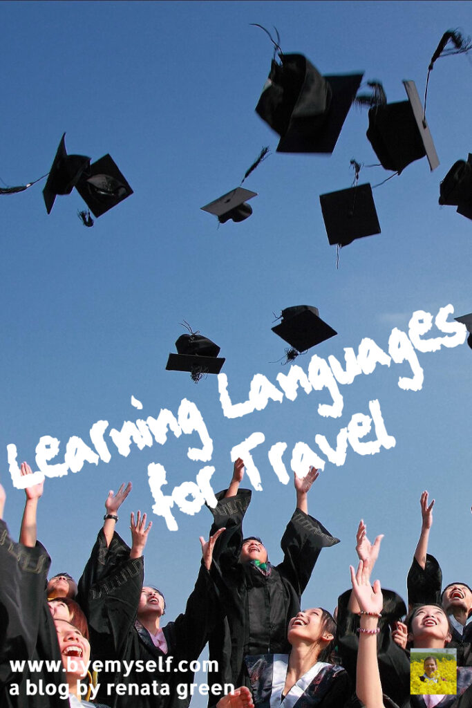 Pinnable Picture on the Post on Learning Languages for Travel