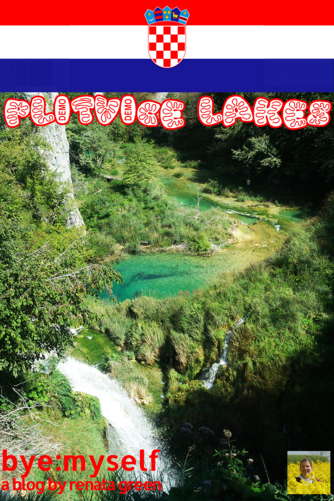 Pinnable Picture for the post on Guide to PLITVICE LAKES: Waters in Dreamlike Colors