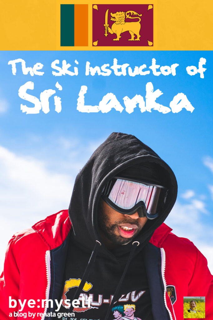 Pinnable Picture for the Post on The Ski Instructor of Sri Lanka
