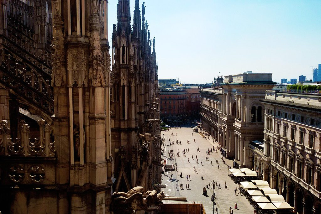 View from the Roof of the Duomo in Milan.