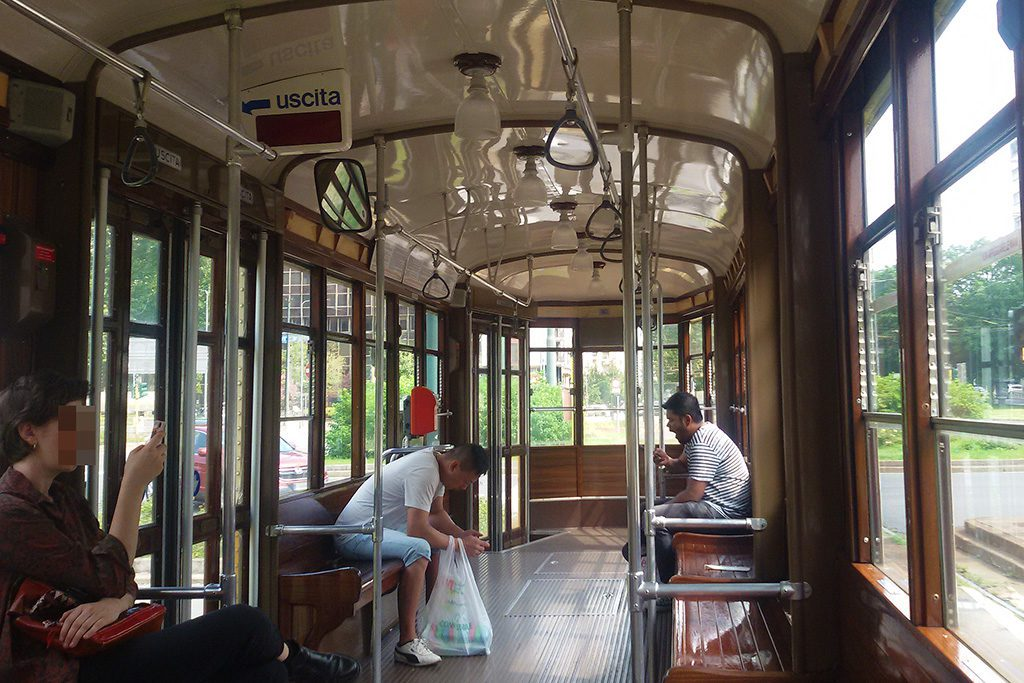 Old tram in Milan.