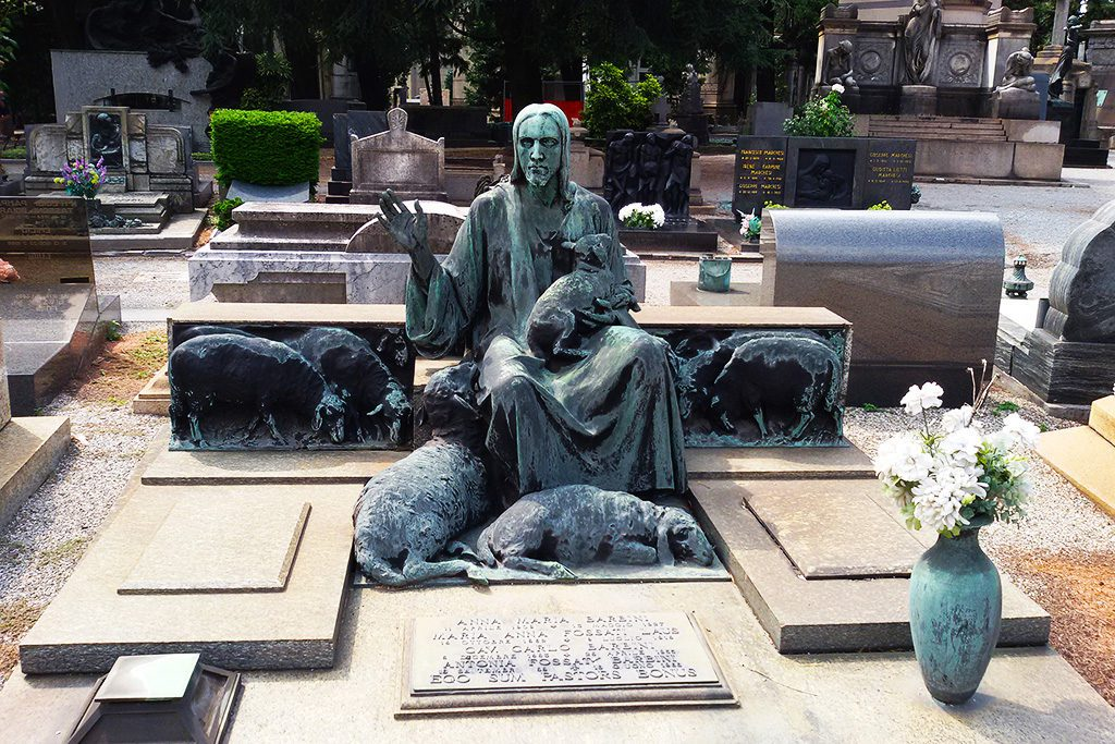 Gravestone at the Cimitero Monumentale in Milan