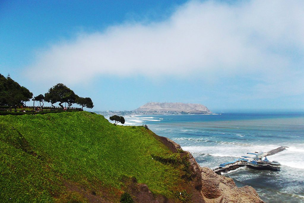 View of Lima's southern bay.
