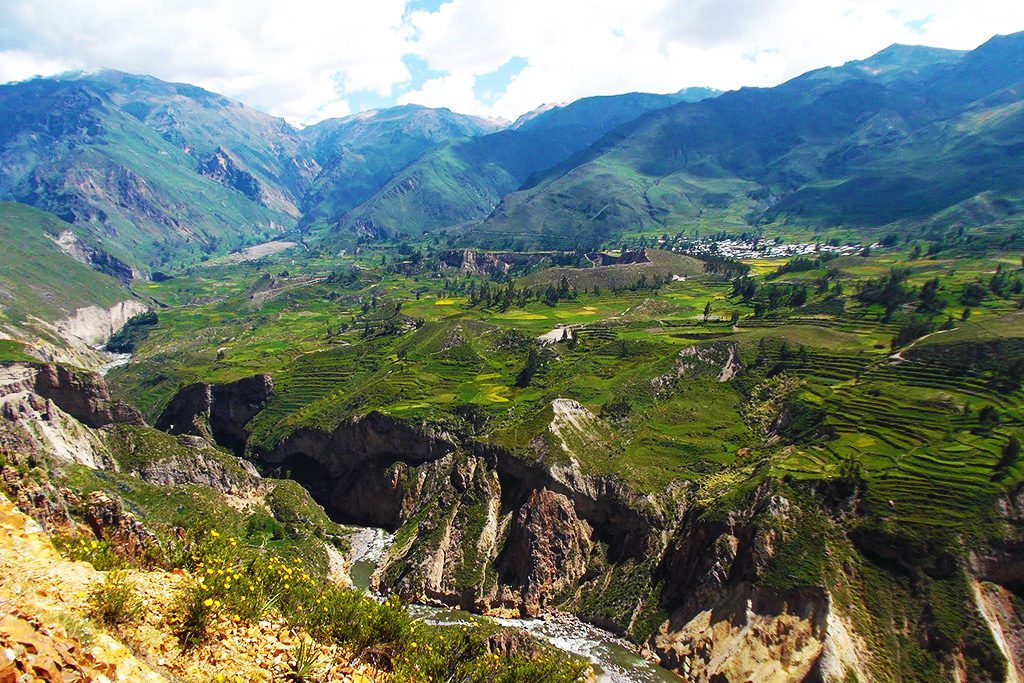 Overlooking the majestic Colca Valley.