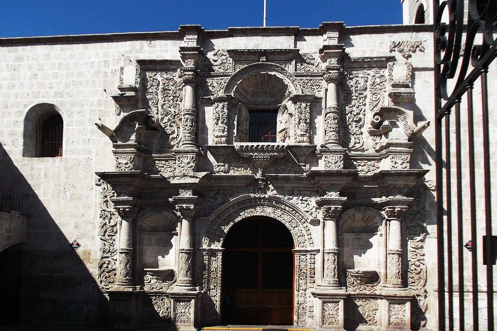 Iglesia de San Agustín - just one block from the Catedral at the Plaza de Armas  in Arequipa.
