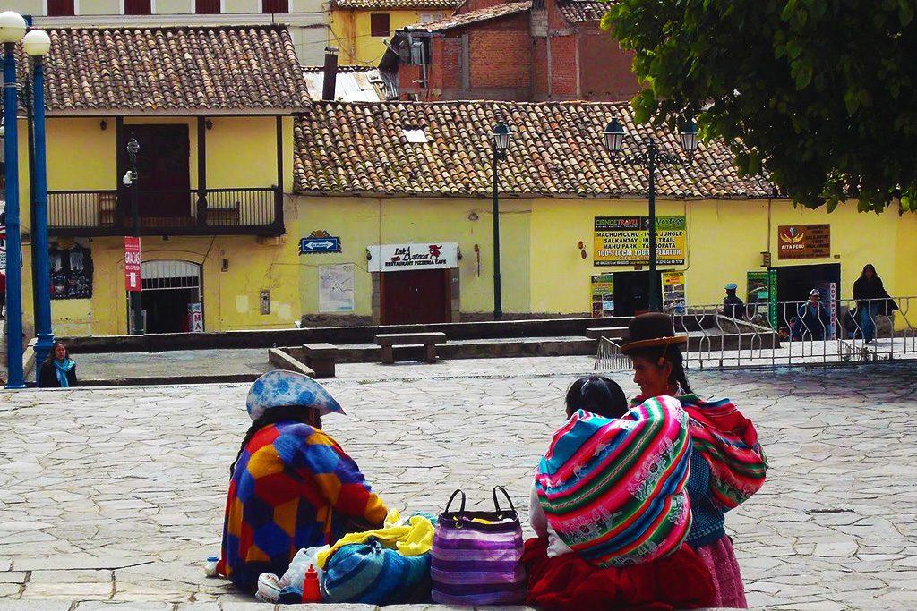 Indio Ladies in Cusco in Peru
