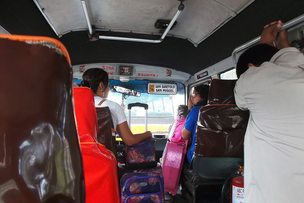Inside a mini bus in Lima - beyond Miraflores