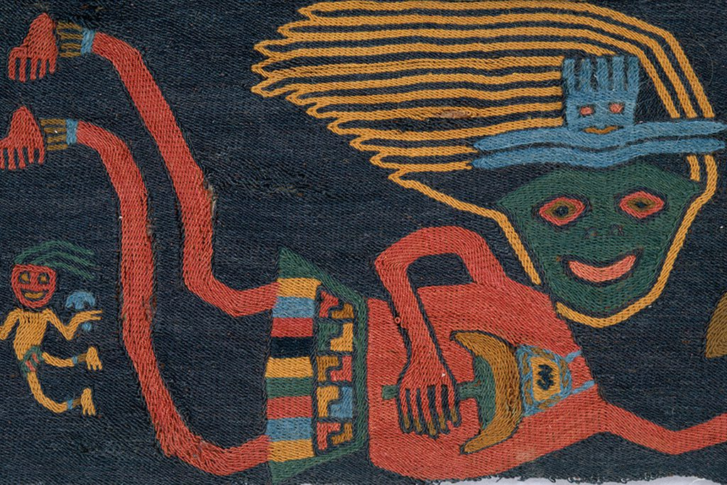 Detail of a mantle from the Paracas Necropolis.