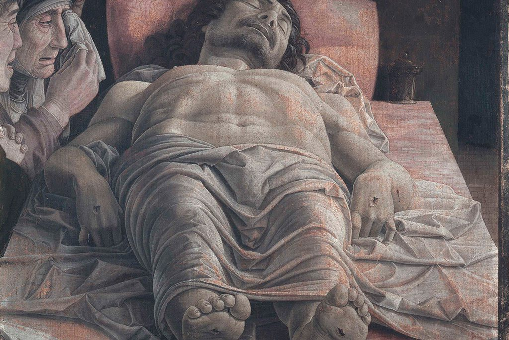 Lamentation of Christ by Andrea Mantegna at the Pinacoteca di Brera in Milan
