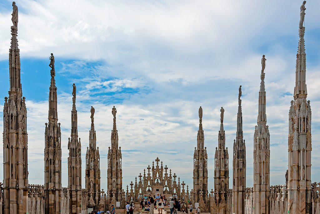 Rooftop of the Duomo in Milan