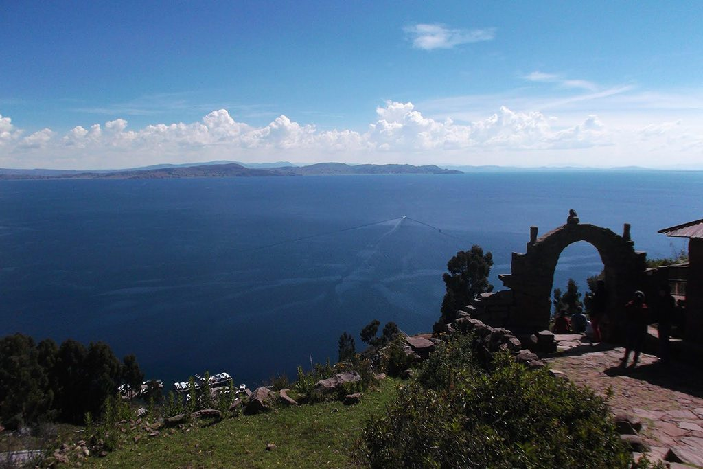 Isla Taquile on Lake Titicaca after visiting the Uros Islands on a trip from PUNO
