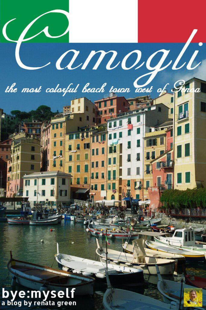 Pinnable Picture for the Post on CAMOGLI - The Most Colorful Beach Town East Of Genoa