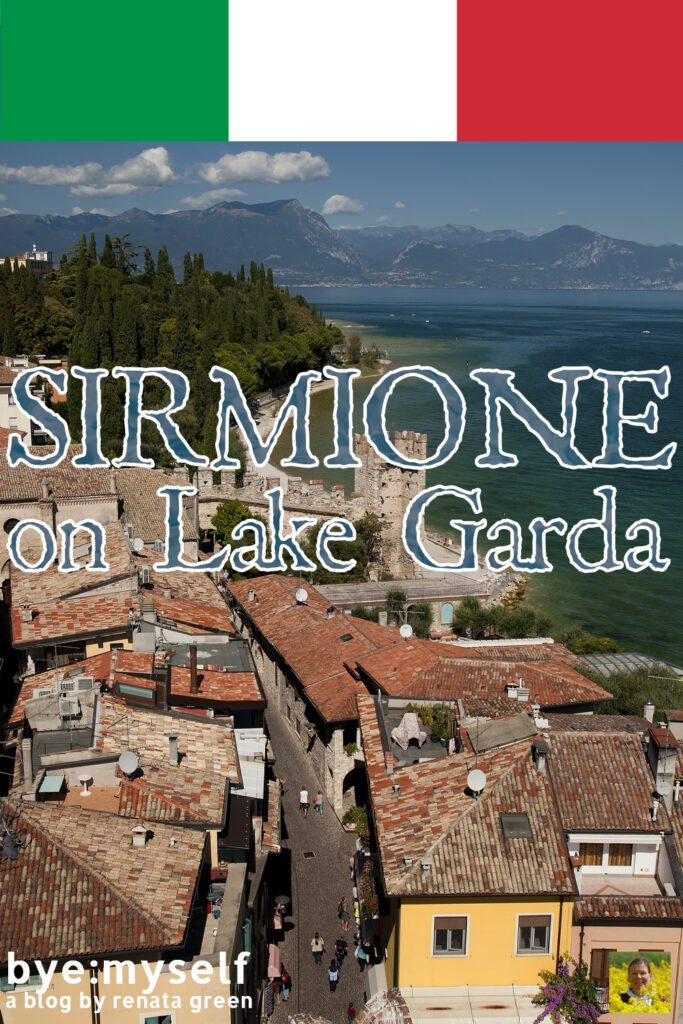 Pinnable Picture for the Post on Sirmione on Lake Garda