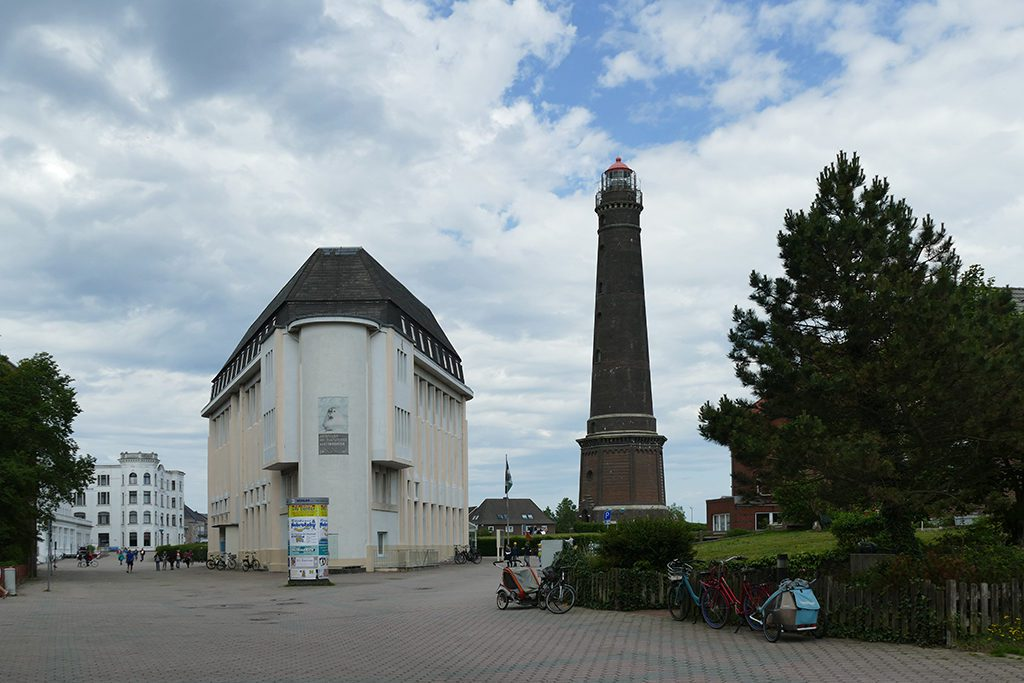The iconic, centrally located New Lighthouse of Borkum